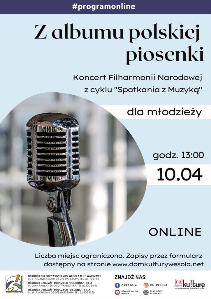 Plakat z mikrofonem