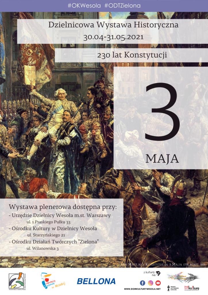 """Plakat z obrazem Matejko """"Konstytucja 3 maja"""""""