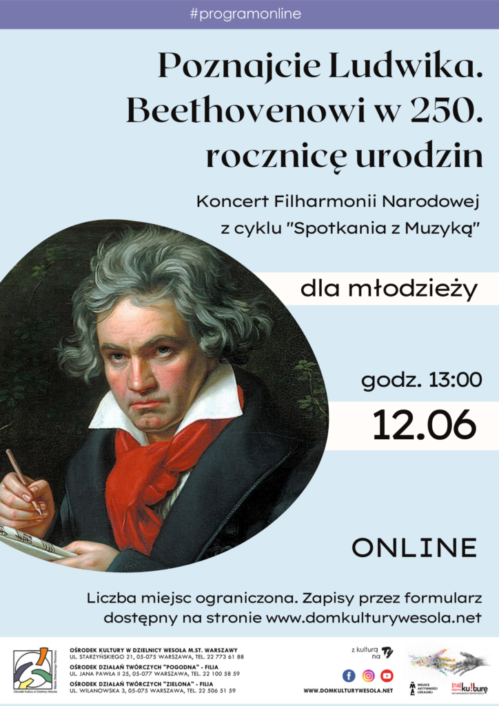 Plakat ze wizerunkiem Beethovena.