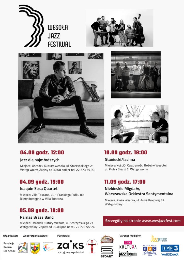 Plakat ze zdjęciami muzyków i informacjami o festiwalu.