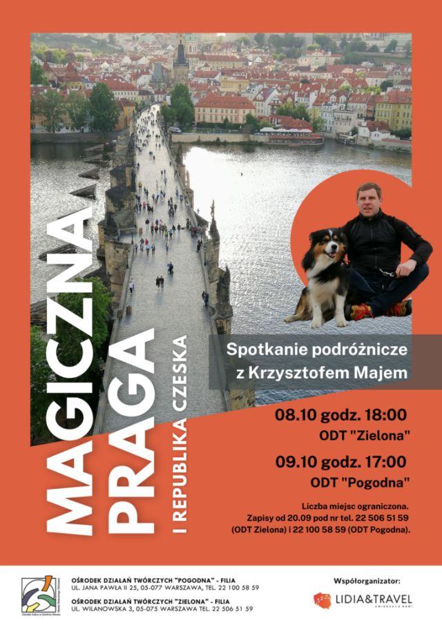 Plakat z mostem Karola i informacjami o wydarzeniu